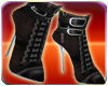 Black Leather Club Boots