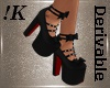 !K! Gothic Bow Heels