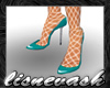 (L) Teal Heels & Stckngs