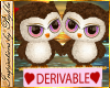 I~Dev Cute Owls*Pink