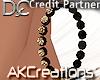 (AK)Choco diamond hoops