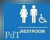 PdT Restroom Sign Poster