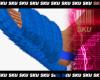 Blue fur slides