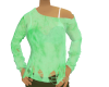 Ripped Green Sweater