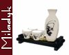 MLK Black J Sake set