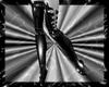 black fetish boots
