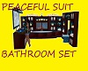 peaceful suit bathroom