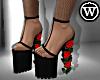 ⓦ WALK ON ROSES Heels