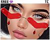 ®Tc. ❤ Glasses Red