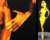 burning fire hands [F]