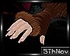 5th:. Fur winter gloves