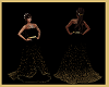 Black N Gold Dusted Gown