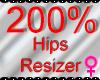 *M* Hips Resizer 200%