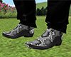 Silver Snakeskin Boots M