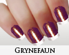 Burgundy nails manicure