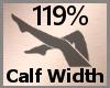Calf Width Scale 119% FA