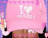 Pink Love My Kids Cap