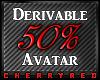 50% Avatar Derive