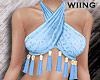 [W] Tassel halter - blue