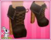 !B! DarkBrown Boot Heels