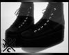 [X] Leather Platforms