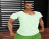 camiseta verde casual