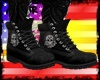 !A Skull Boots Black