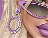 💜 Lilac Hoop Earrings