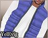 [Y] Blue puff vest M