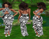 Zebra Wraped Gown