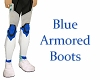 Blue Armored Boots