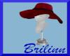 [B] Maroon Brim Hat