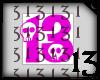13 Skull Pink Dark No BG