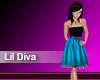 (M) Lill Diva Blue Dress