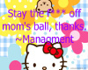 [X3] Mom's Ball Sign