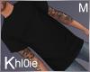 K nik black tshirt M