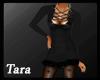Winter Fur Dress Black