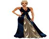 *CYN* Blue/Silver Gown