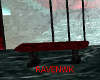 RED BLACK MARBLE BENCH