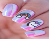 unicornio nails