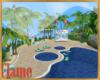 Kids pool party island
