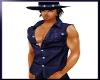 Blue Cowboy Muscle Shirt