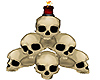 skulls red candle
