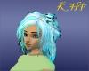 Female Blue Toxic Hair