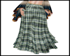 Green Plaid Boho Skirt