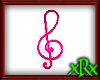 Note Treble Clef Pink
