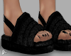 D. Fuzzy Slippers Black