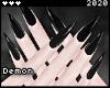 ◇Long Nails Black