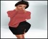 Fall Sweater Skirt Peach
