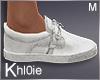 K white shoes M